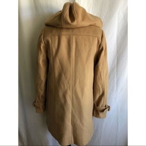 J. Crew Jackets & Coats - J.CREW camel long wool winter coat with hood